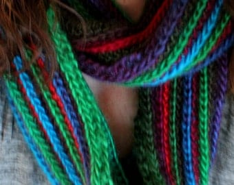 Crafts by Cheri Hand Knitted Infinity Scarf