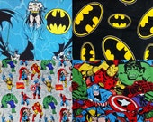 Choose from 1 of 4 Batman, Marvel Super Heroes Cotton Fabric by the Yard