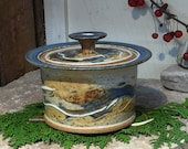 Hand thrown Small Covered Baking Dish Free Shipping