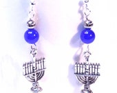 Hanukkah Menorah Earrings