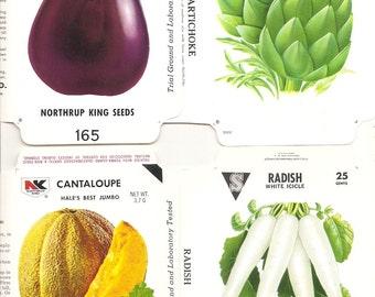 23 Vintage FLOWER / VEGETABLE Unfolded Vegetable Seed Packs