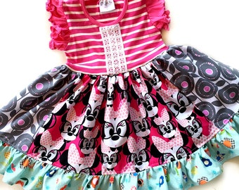 Minnie Mouse Disney dress Momi boutique custom girls dress