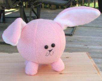 Little Pink Bunny Fuzzball Stuffed Animal Toy