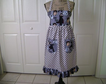 Harry Potter Ladies Full Length Apron With Ruffle Reversable