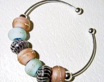 Tranquility Big Hole Bead Bangle Bracelet SRAJD