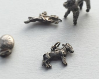 Donkey Charm.  Vintage silver charm of a donkey, or mule charm.  Silver Eeyore seeking his Pooh! Vintage Charm for necklace or bracelet.