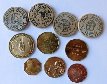 Wooden Nickels Advertising Commerative Coins Souvenir Coin Hawaii Dollar