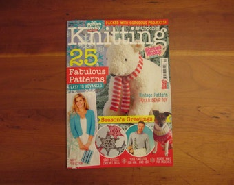 Woman's Weekly Magazine Knitting and Crochet December 2015 Knitting Pattern Book