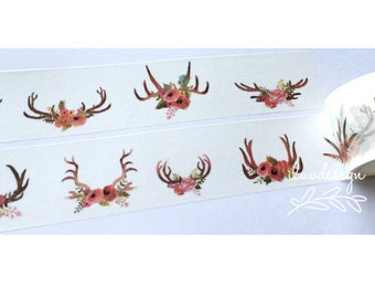 Dreamy Floral Antlers Washi Tape (184029)