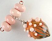 Sandy Beaches Bubble Pod Lampwork Bead Set