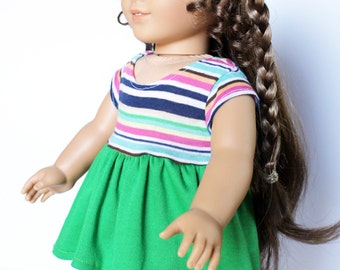 Doll Clothes fits American Girl Doll - Casual Hi-low Dress and Shorts