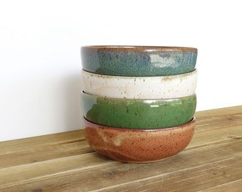 Instant Collection Stoneware Pottery Bowls - Set of 4