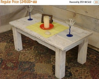 """Duffs Whitewashed Driftwood Coffee Table (42"""" x 22"""" x 16-20"""" H)"""