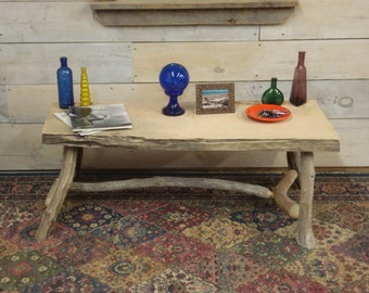 """2"""" Thick Farmhouse Coffee Table 47""""x20""""x 16 TO 20""""H"""