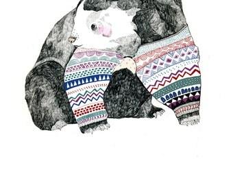 Knitted Bear Postcard