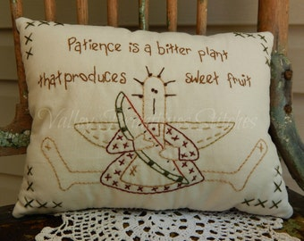 Decorative Hand Stitched Pillow, Raggedy, Rag Doll, Patience, Sweet Fruit, ATGCele