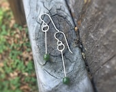 Polar Jade Modern Circle Swing Earrings