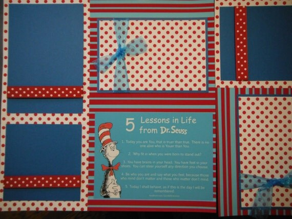 Dr Seuss 4 Lessons In Life Quotes 12x12 Scrapbook Pages
