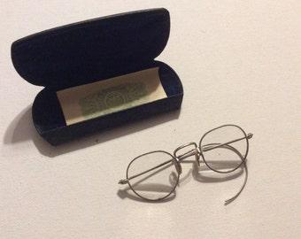 Pair of Vintage Silver Eyeglasses/Spectacles with Loop Earpieces