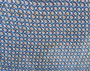 Vintage Blue with Roses Whole Cloth Cutter Quilt