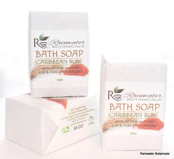 Caribbean Rum Bar Soap with organic coffee extract