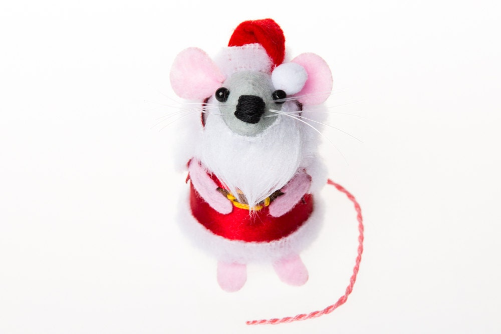 Santa Mouse collectable Christmas art rat artists mice cute