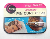 Vintage Wil Hold Sleepies Pin Curl Clips on Original Card