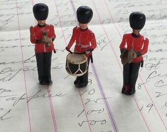 British Toy Soldiers Drummer Trumpet Toy Miniatures