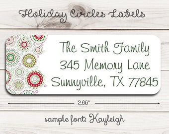 Holiday Circles Return Address Labels