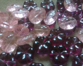 Beautiful Czech Glass Flower Beads (12) Choose Color