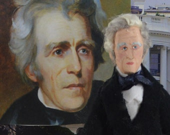 American President Andrew Jackson Art Doll Miniature US History