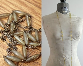 35% OFF MOVING SALE 20s Necklace • Art Deco Jewelry • 1920s Necklace • Amber Beaded Necklace • Yellow Lucite Necklace • Flapper Necklace • R