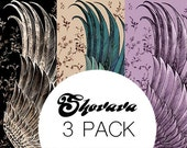 Pack of 3 COTTON scarves, discount, black, exotic and purple scarves, perfect Valentine gifts.