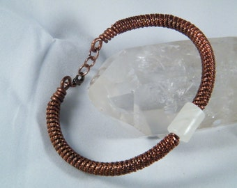 Coiled coils Onyx Marble bracelet