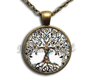 20% OFF - Tree of Life Dome Pendant or with Chain Link Necklace NT137