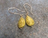 Yellow Lucite Drops