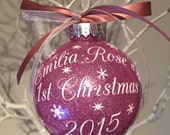 Baby Girl First Christmas Bauble