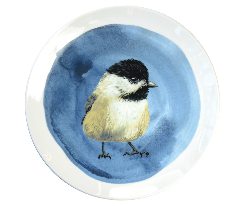 Assiette murale en porcelaine avec lillustration oiseau - Assiette murale ...