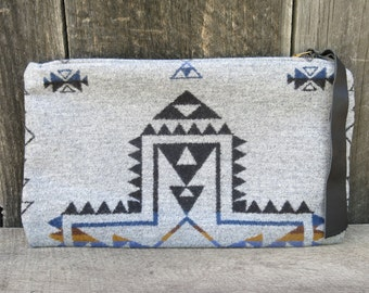 Rise Within Pyramid Wool Clutch