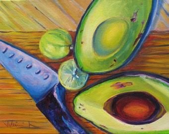 """Fruits 1  8"""" x 10"""" matted giclée"""