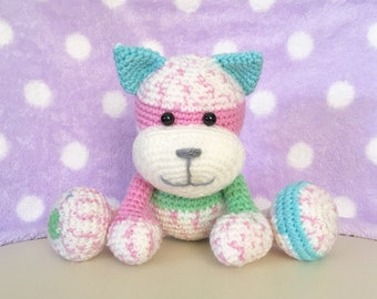 Amigurumi Cat / Crocheted Cat --- Tom Cat - Pastel