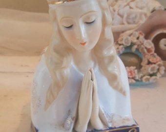 Madonna Virgin Mary or Saint Japan Planter 4346 Head Vase