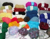 Destash Yarn Over 1 lb Several Colors and Textures DIY Needlecraft Yarn Knitting Crochet Weaving Craft Supply