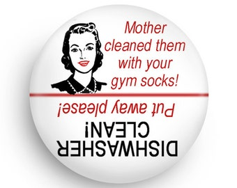 Funny Retro Dishwasher Clean Magnet-Useful too!