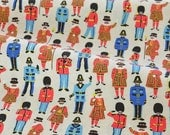 4212 - Cath Kidston Guards and Friends (Light Beige) Cotton Jersey Knit Fabric - 66 Inch (Width) x 1/2 Yard (Length)