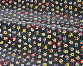 4240 - Cath Kidston Cotton Ditsy (Black) Oilcloth Waterproof Fabric - 28 Inch (Width) x 17 Inch (Length)