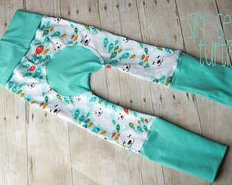 Maxaloones, Silly Seal cloth diaper pants, grow with me pants, babywearing pants, baby leggings, baby pants, sustainable, monsterbunz