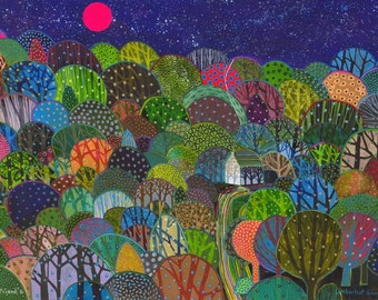 Limberlost Woods. A ltd edition, numbered and signed A4 print from an Original Painting by Richard Friend