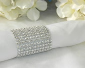 Silver Rhinestone Wedding Napkin Ring (Set of 100)
