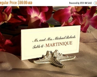 20% off ends 5pm Fri. Beach Wedding + Place Card Holder + Beach Wedding- Silver Starfish Place Card Holders-Set of 100 w/FREE SHIPPING